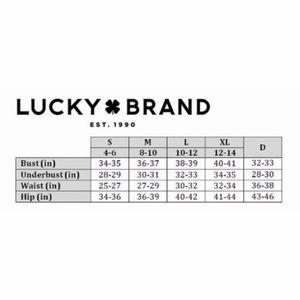 Lucky Brand Swim - Lucky Brand Bikini Ruffle Top Blue Red Floral